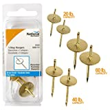Stanley National N260-141 One Step Picture Hanger Assortment Brass Finish Pack of 6