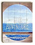 Seek Adventure Wood Sign 9x12 (23cm x 31cm) Solid