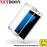 NETBOON® Samsung Galaxy S7 Edge Full Coverage Curved 3D Ultra Thin Tempered Glass Screen Protector Glass Guard...