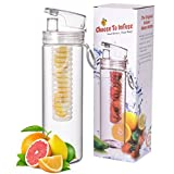 Infuser Water Bottle 27 Ounce - Updated For 2015! - FREE Recipe Booklet With Order* - Made Of Eastman TritanTM...