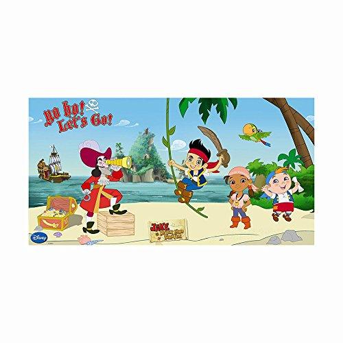 Enico Gioco 5 x 2,5 ft Yo Ho Disney Jake ei Pirati che non c'è Scene Setter decorazione della parete