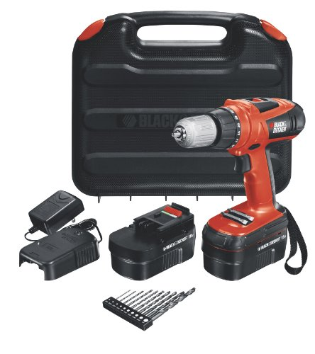 New Black & Decker HPD18AK-2 18-Volt High Performance Drill
