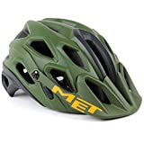 MET Lupo MTB Helmet // Green/Black Orange // Medium