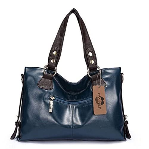 KISS GOLD(TM) Women's Artificial Leather Top Handle Bag