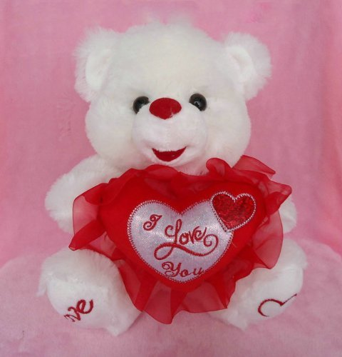 White Soft 12 Inches Tall Teddy Bear - 1