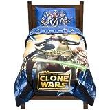 Star Wars Clone Wars Full Size Microfiber Comforter - Includes Bonus Tote