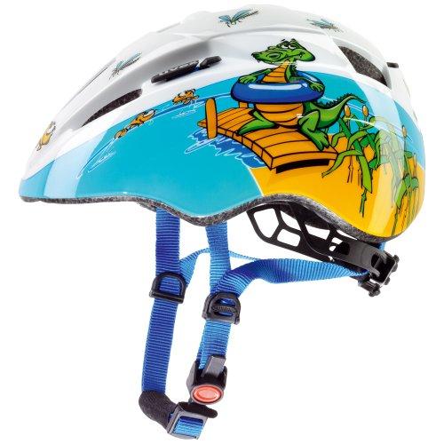 UVEX, Casco bicicletta Bambino Kid II, Multicolore (crocodile), 46-52 cm