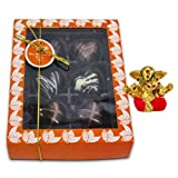 Chocholik Belgium Chocolate Gifts - Attractive Treat Of Chocolate Hearts With Small Ganesha Idol - Diwali Gifts