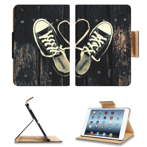 Sneakers With Heart Shaped Shoelaces Apple Ipad Mini Flip Case Stand Smart Magnetic Cover Open Ports Customized Made To Order Support Ready Premium Deluxe Pu Leather 8 Inch (205Mm) X 5 1/2 Inch (140Mm) X 11/16 Inch (17Mm) Liil Ipad Mini Professional Ipadm
