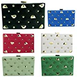 Girly HandBags New Leather Clutch Bag Ladies Hard Case Box Celebrity Fashion Studded Handbag