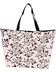Snoogg Seamless Floral Pattern Abstract Background Waterproof Bag Made Of High Strength Nylon - B01I1KJHV8