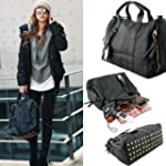 THG Punk Style PU Faux Leather Safety...