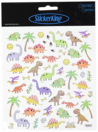 Multi-Colored Stickers-Dinos