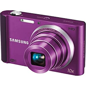Samsung ST200F Long Zoom Smart Camera - Plum (EC-ST200FBPLUS)
