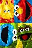 Sesame Street Color Block Buddies Super Plush Throw Blanket