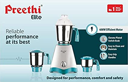Preethi-Elite-MG-213-600W-3-Jar-Mixer-Grinder