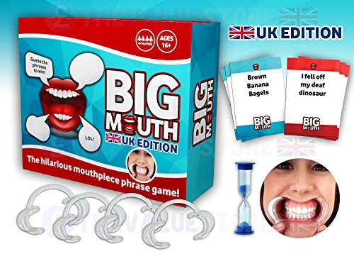 Big Mouth Speak Out UK Edition Version Mouthpiece Board Game Pre Order