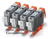 BCI-6BK 4Pk Black Compatible Printer Ink Cartridges for Canon BJC-8200, BJI-6500, BJI-9100, i860, i865, i905D, i9100, i950, i965, i990, i9950, Canon Pixma i9950, iP4000, iP5000, iP6000, iP8500, MP750, MP760, MP780, S800, S820, S820d, S830D, S900, S9000