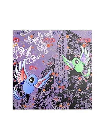 Miguel Paredes Purple Birds Artwork