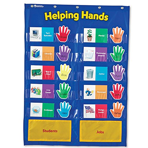 Learning Resources Helping Hands Pocket Chart (Jobs Chart For Classroom compare prices)
