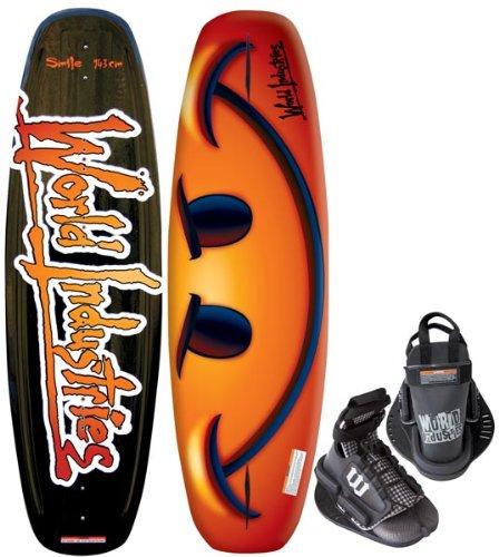 Cheap Kwik Tek World Industries Smile Wakeboard with Faction Binding, 143cm (WIW-43)
