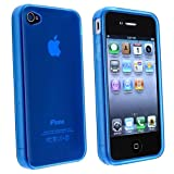 niceEshop Clear Blue TPU Rubber Skin Case Cover for iPhone 4 4S thumbnail