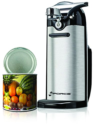 GForce GF-P1177-598 Electric Can Opener with Knife Sharpener and Magnetic Lid Holder, Stainless Steel/Black