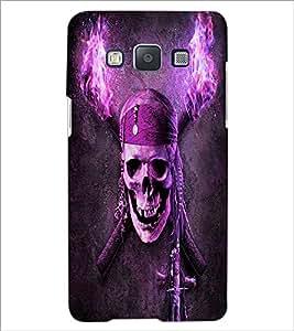 PrintDhaba Pirate's Skull D-6066 Back Case Cover for SAMSUNG GALAXY E5 (Multi-Coloured)