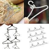 DatConShop(TM) 12 pcs Hard Plastic Clothes Coat Hanger For Barbie Doll Accessories Gray