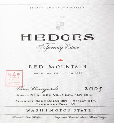 2005 Hedges Family Estate Red Mountain Red Blend Limited Edition Large Format 9 L