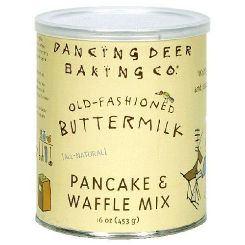 Dancing Deer Baking Co. Pancake and Waffle Mix, Old Fashioned Buttermilk, 16-Ounce Tin (Pack of 3)