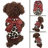 Alcoa Prime New Pet Dog Puppy Cat Winter Leopard Clothes Cute T-Shirt Soft Warm Coat Hot