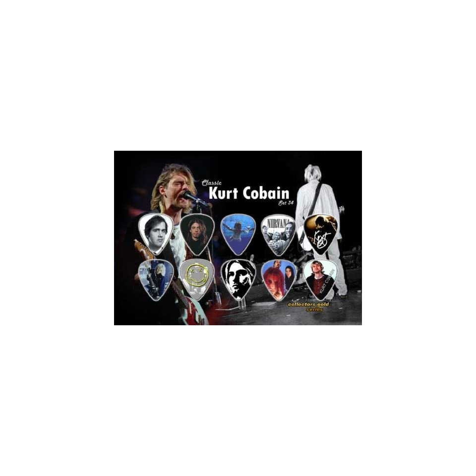 Kurt Cobain Nirvana Premium Celluloid Guitar Picks Display Classic Edition