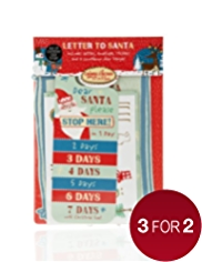 Letter to Santa with Tear-off Countdown Door Hanger