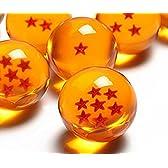 【ZNU】ドラゴンボール(DRAGON BALL)全7点!世界中に散らばったドラゴンボールを全て7つを集めた!神龍召喚!7点セット 7.6CM すっげ本物らしい!水晶 ドラゴン 龍球 クリスタル玉 コスプレ小道具 箱が付きません