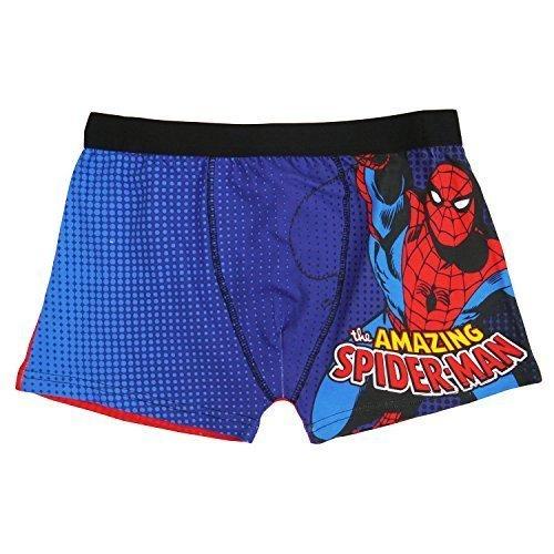 """Marvel Fumetti The Amazing Spiderman Da Uomo Boxer Pantaloncini - 76.2to104.1cm Vita - cotone, Blu, 95% cotone 95% cotone 5% elastene, Uomo, Lge / 36-38"""" Waist"""