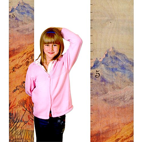 Mountain Kids Wall Hanging Wooden Growth Chart