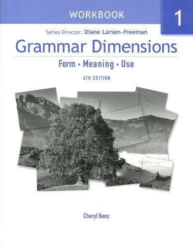 Grammar Dimensions: Workbook Bk. 1
