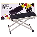 GLEAM Guitar Foot Rest, Stool, Footrest (White)