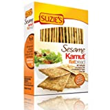 Suzie's Flatbread, Kamut Sesame, Low Fat, 4.5-Ounce Boxes (Pack of 12)