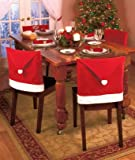 Santa Claus Clause Hat Chair Covers Set of 4 Decor Christmas Holiday Festive Brand New