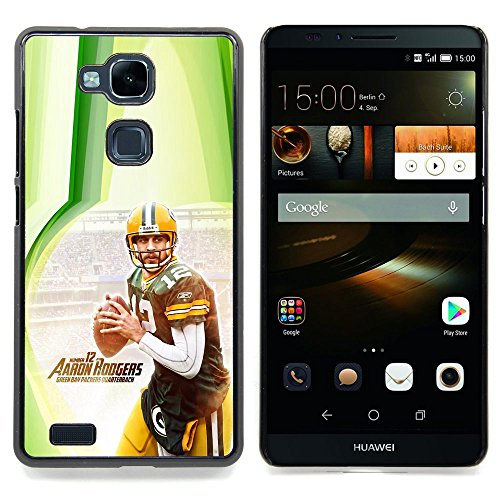 Aaron Rodger 12 NFL Custodia protettiva Progettato rigido in plastica King Case For HUAWEI Ascend Mate 7