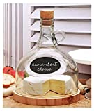 Wooden cheese board & moonshine dome with chalkboard