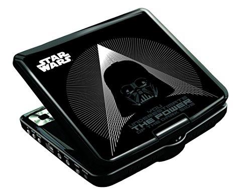 Star Wars - Reproductor de DVD portátil, color negro (Lexibook DVDP6SW)