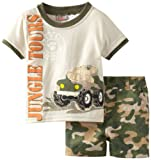 Little Rebels Baby-Boys Infant 2 Piece Jungle Tours Short Set