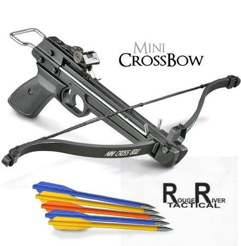 Rogue-River-Tactical-50lb-Mini-Crossbow-Pistol-Hand-Held-Archery-Hunting-Cross-Bow-with-17-Arrows