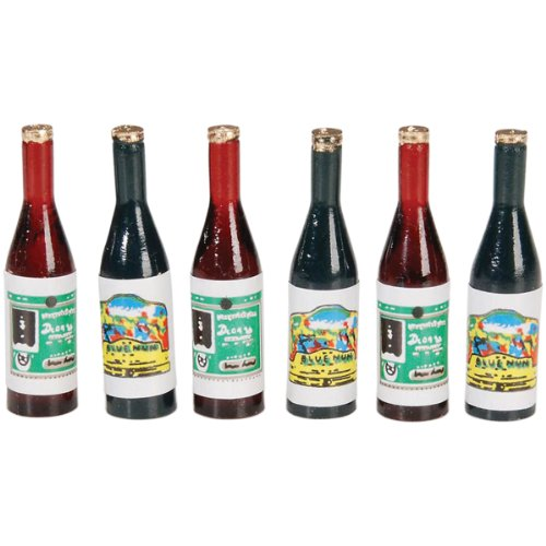 "Dollhouse Size Miniature Wine Bottles - 1-1/2"" Tall - 1"