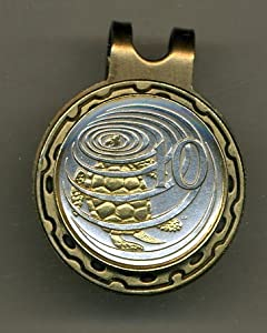 Gorgeous 2-Toned Gold on Silver Cayman Is. Turtle Coin - Golf Ball Marker - Hat Clips by J&J Coin Jewelry