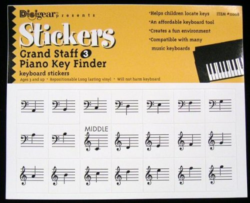 Piano Stickers Keys Removable Keyboards