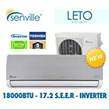 18000 BTU Ductless Split Air Conditioner - Senville Leto - With Heat Pump
